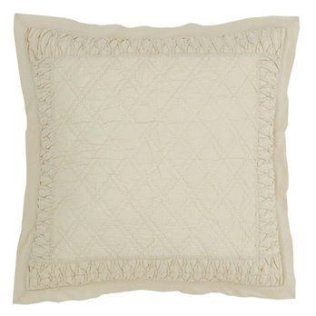 Adelia Creme Quilted Euro Sham 26x26