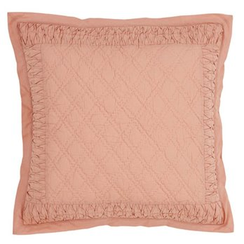 Adelia Apricot Quilted Euro Sham 26x26