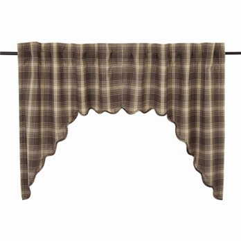 Dawson Star Scalloped Swag Lined Set of 2 36x36x16