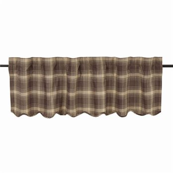 Dawson Star Scalloped Valance Lined 16x60