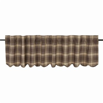 Dawson Star Scalloped Valance Lined 16x72