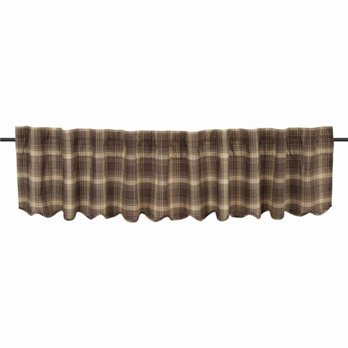 Dawson Star Scalloped Valance Lined 16x90