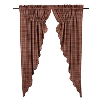 Parker Scalloped Prairie Curtain Lined Set of 2 63x36x18