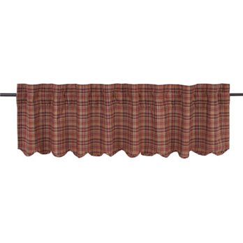 Parker Scalloped Valance Lined 16x72