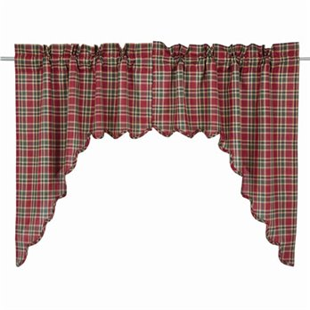 Graham Scalloped Swag Lined Set of 2 36x36x16