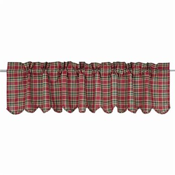 Graham Scalloped Valance Lined 16x72