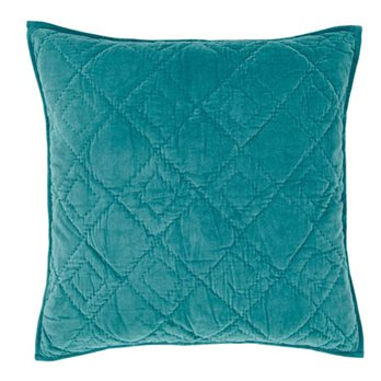 Eleanor Teal Quilted Euro Sham 26x26