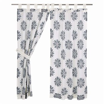 Mariposa Indigo Short Panel Set of 2 63x36