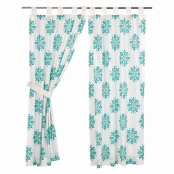 Mariposa Turquoise Short Panel Set of 2 63x36