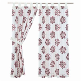 Mariposa Fuchsia Short Panel Set of 2 63x36