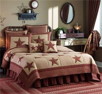 Sturbridge Patch Wine King Quilt Set