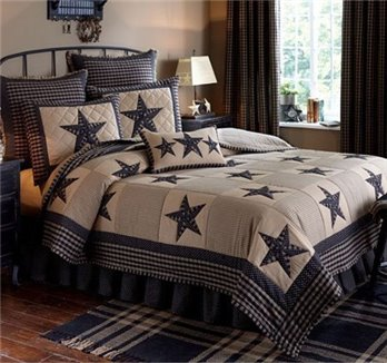 Sturbridge Patch Black King Quilt Set