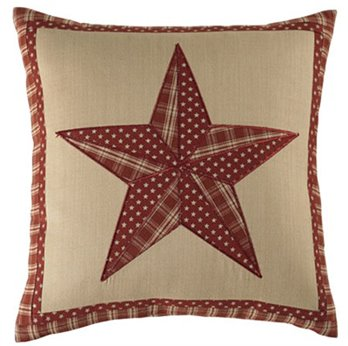 "Sturbridge Patch Wine 16"" Star Pillow"