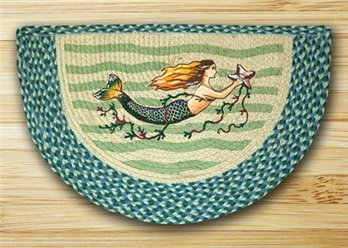 "Mermaid Braided and Printed Slice Rug 18""x29"""