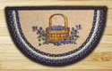"Blueberry Basket Braided and Printed Slice Rug 18""x29"""