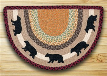"Cabin Bear Braided and Printed Slice Rug 18""x29"""
