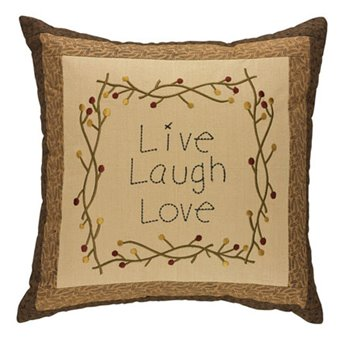 "Live Laugh Love 18"" Pillow"