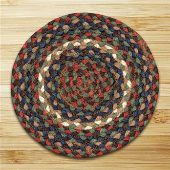 "Burgundy & Gray Round Swatch 10""x10"""