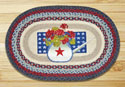 "Summer Celebration Braided and Printed Oval Rug 20""x30"""