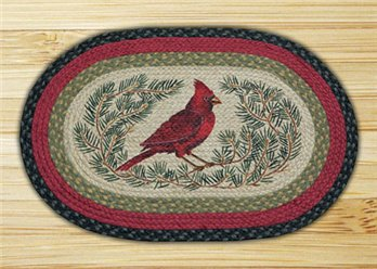 "Cardinal Braided and Printed Oval Rug 20""x30"""