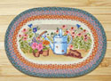 "Planting Time Braided and Printed Oval Rug 20""x30"""