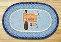 "Welcome To The Lake Braided and Printed Oval Rug 20""x30"""