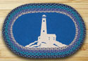 "Lighthouse Braided and Printed Oval Rug 20""x30"""