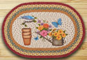 "Rustic Garden Braided and Printed Oval Rug 20""x30"""