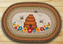 "Bee Skip Braided and Printed Oval Rug 20""x30"""