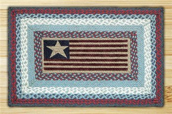 "Flag Braided and Printed Rectangle Rug 20""x30"""