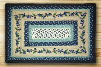 "Blueberry Vine Braided and Printed Rectangle Rug 20""x30"""