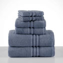 Under The Canopy Unity Blue 6-Piece Towel Set