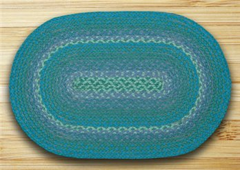 "Teal In The City Oval Rug 20""x30"""