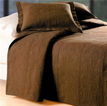Choco Brown Quilted Matelasse Twin Quilt