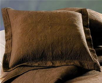 Choco Brown Quilted Matelasse Euro Sham