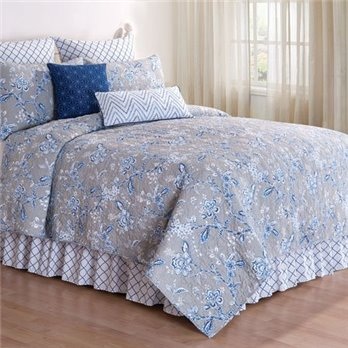 Annabelle Blue Full Queen Quilt
