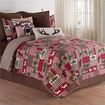 Happy Camper Full Queen 3 Piece Quilt Set