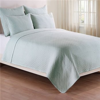 Basketweave Spa Full Queen 3 Piece Quilt Set