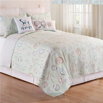 Breezy Shores Full Queen 3 Piece Quilt Set