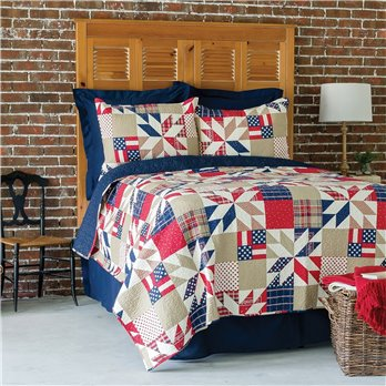 Levi Full Queen 3 Piece Quilt Set