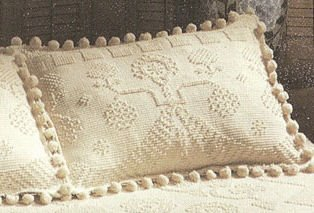 George / Martha Washington King Antique Coverlet Sham