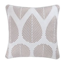Liliann Leaves Embroidered Pillow