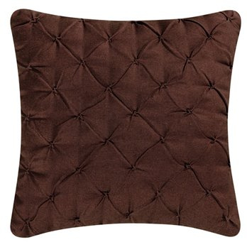 Brown Pintucked Feather Down Pillow