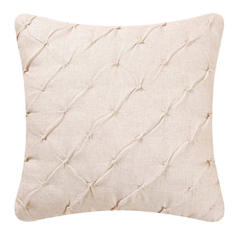 Cream Pintucked Feather Down Pillow