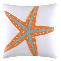 Fiesta Key Starfish Tufted Pillow