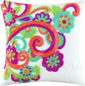 Lola Tufted Swirls Pillow