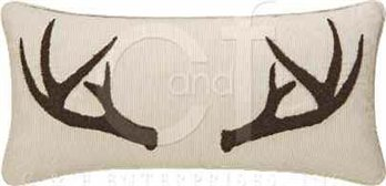 Antler Tufted Pillow