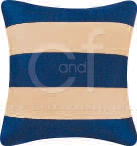 Blue and Tan Stripe Feather Down Pillow