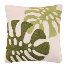 Green Leaves Rice Stitch Pillow
