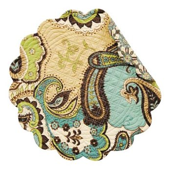 Kasbah Round Quilted Placemat